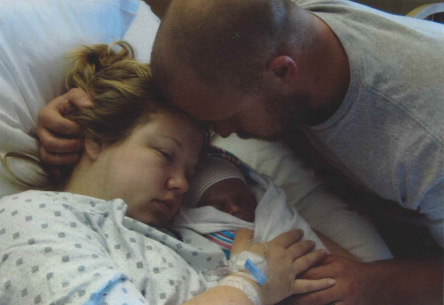 Kate, her husband, and their son, Cade